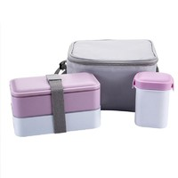 Lunch Boxs Water Soup Mug Insulated Lunch Cooler Tote Bag