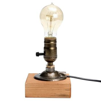 Retro Vintage Wooden Table Light Base