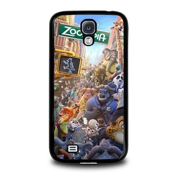 ZOOTOPIA CHARACTERS Disney Samsung Galaxy S4 Case Cover