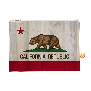 "Bruce Stanfield ""California Flag Wood"" Brown Everything Bag"
