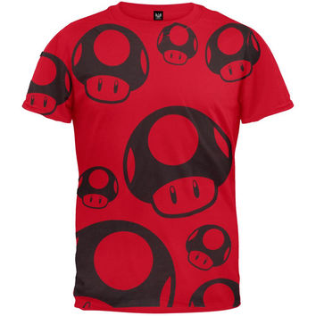 Nintendo - Tonal Mushrooms All-Over T-Shirt