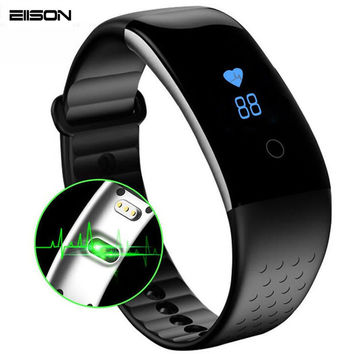 Smart Band Fitness Bluetooth Bracelet Heart Rate Monitor Passometer Sport Wristband for iOS Android PK xiaomi mi band 2 Fitbits