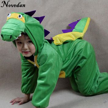 Children's Onesuit Kids Baby Dinosaur Costume Cosplay Clothing Halloween Animals Costumes Jumpsuit For Boy Girl