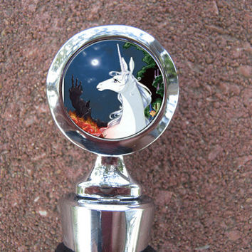 The Last Unicorn Fantasy Horse Wedding Wine Stopper House Warming Gift Bridal shower