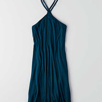 AEO Soft & Sexy Cross-Strap Shift Dress , Teal