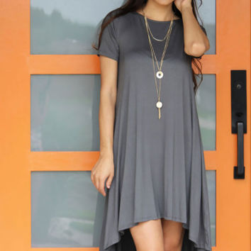 Charcoal HiLo Tunic Dress