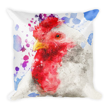 Chicken Hen Decorative Throw Pillow 18x18