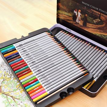 Designer Fine Art Water color pencils 24 36 48 72 Colors Drawing Sketch Pencil Color School Supplies Paint Pencil Pen