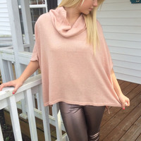 Metallic Blush Poncho