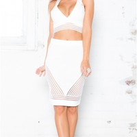 Trail Mix two piece set in white