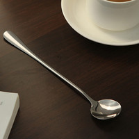 5 pcs/lot High Quality Ice Cream Tea Coffee Handled Long Handle Stainless Steel Spoons Flatware Free Shipping