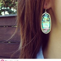 Elle Earrings in Abalone Shell - Kendra Scott Jewelry