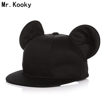 Mr.Kooky New Arrival Women Lady Fashion Big Ears Baseball Caps Girls Cute Hip Hop Lovely Novelty Funny Hats Gorras Cool Gifts