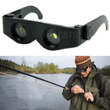 Portable Glasses Style Magnifier Telescope Binoculars Hiking Fishing Concert Use Eyewear