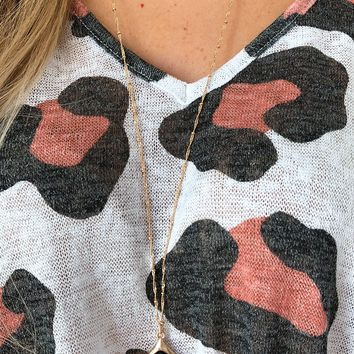 Something For You Necklace: Gold/Black