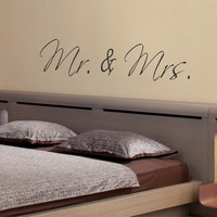 Mr. and Mrs. Wall Decal
