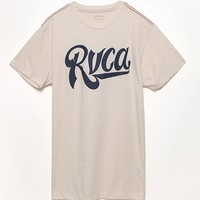 RVCA Benchwarmer Off White T-Shirt - Mens Tee - Off White