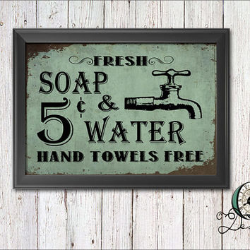 Best Vintage Bathroom Prints Products on Wanelo