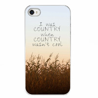Quote iPhone 5 and 5S Case Accessory - Country - Quote, Country, Corn Field