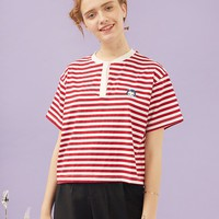Girl Icon Embroidered Stripe Tee
