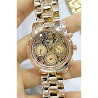 GUESS Stylish Women Men Personality Quartz Watches Wrist Watch Rose Gold I-YF-GZYFBY