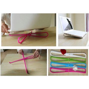 DCCKL72 Hot sale 1pc  Hot Portable Plastic Simple Laptop Notebook Cooling Cooler Stand Rack Holder Tool 2016