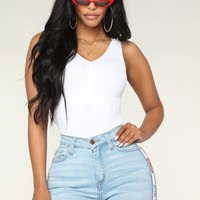 Remy Ruched Bodysuit - White
