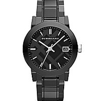 Burberry - Black Ceramic and Stainless Steel Link Bracelet Watch - Saks Fifth Avenue Mobile