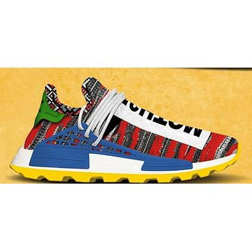 BC QIYIF Adidas PW AFRO HU NMD Trail Red Bright Blue Yellow BB9531 PRE ORDER