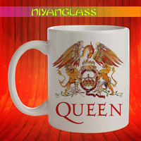 Flag Queen mug, Flag Queen cup, Flag Queen mugs,  personalized cup, funny mugs, birthday ceramic mug