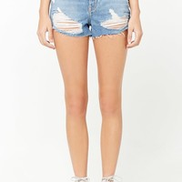 High-Waisted Denim Shorts