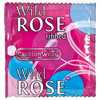 Caution Wear Wild Rose Condoms 12 Pack