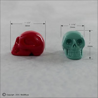 Skull Mold 3D Silicone Mould Crystal Skull for soap, resin, chocolate, polymer clay, wax (293)