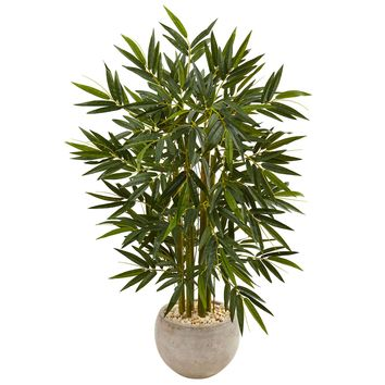 Artificial Tree -4 Foot Bamboo Tree with Sand Colored Bowl