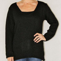 M made in Italy black knit sweater