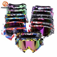Motocross Goggles Skiing Skating Glasses For Motorcycle Dirt Bike Helmet Eyewear Collapsible Cycling Ski Windproof Eyewear