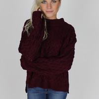 Committed Maroon Sweater