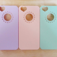 SALE 80-20%OFF: Pastel Girly// women Colors heart Collection cover iPhone 5 protective cases with Easy and simple Pastel color for Iphone 5
