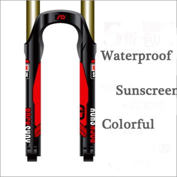 2017 ROCK SHOX Protective MTB front Fork replacement Stickers ROCK SHOX SID mountain bike bicycle DH race decals free shipping