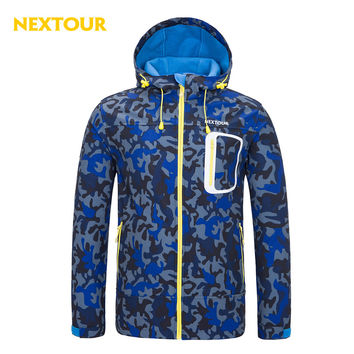 NEXTOUR Outdoor Jacket Men Softshell  Jacket  Waterproof Windproof   with fleece  Coats Hunting Hiking Hooded Winter clothes