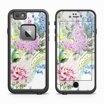 Vintage Carnation Watercolor Painting Skin for the Apple iPhone LifeProof Fre Case