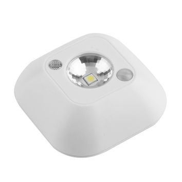High quality Mini Wireless Infrared Motion Sensor Ceiling Night Light Battery Powered Porch Lamp  new