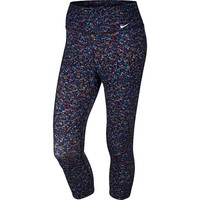 Nike Legend 2.0 Dri-FIT Cotton Printed Capri Workout Tights - Women's, Size: