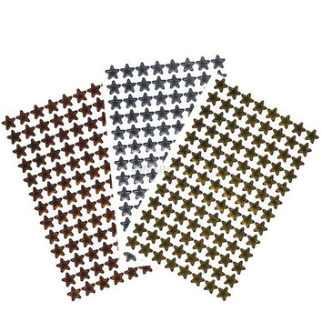 600+ Star Stickers Labels Reward Charts Teacher Resource School Children's Craft Gold Silver & Bronze Metallic Stickers