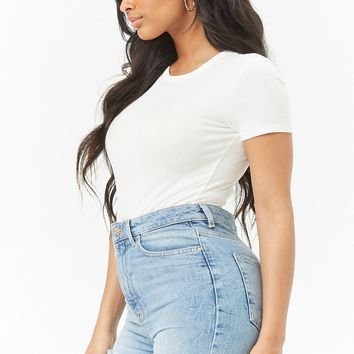 Cotton-Blend T-Shirt Bodysuit
