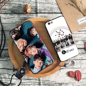 EXO Kpop Boy group Coque soft silicone TPU Phone Case cover Shell For Apple iPhone 5 5S SE 6 6S 6Plus 6sPlus 7 7Plus 8 8Plus X