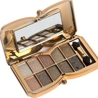 Glitter Smoky EyeShadow Palette Makeup Flash Diamond Eyeshadow Pallete Maquiagem 10 Colors Eyeshadow with Brush