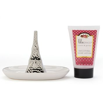 Lila Grace Cassis & Peony Hand Cream & Ring Holder Gift Set (Put A Ring On It)