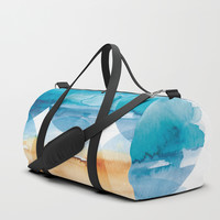 Sand and Surf Duffle Bag by noondaydesign