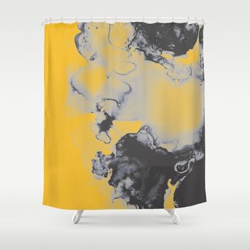 Lellow Shower Curtain by duckyb